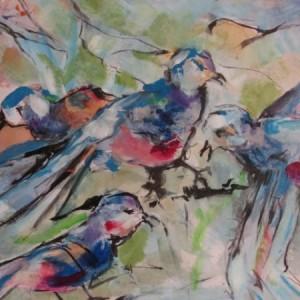 Blue bird feast